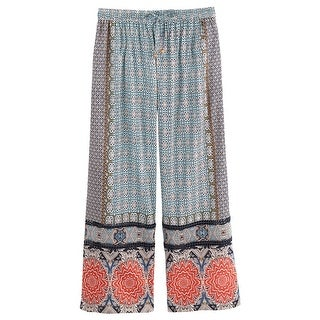 Women's Exotic Prints Lounge Pants - Pajama Bottoms Mixed Prints - Blue