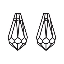 Swarovski Elements Crystal, 6000 Classic Drop Pendants 11x5.5mm 4 Pieces, Crystal Blue Shade