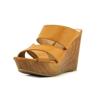 Report Everlynn Open Toe Synthetic Wedge Heel