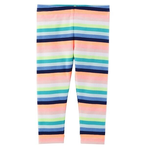 b6fb2214cd9b6 Shop Carter's Little Girls' Striped Capri Leggings - Free Shipping On  Orders Over $45 - Overstock - 26428998