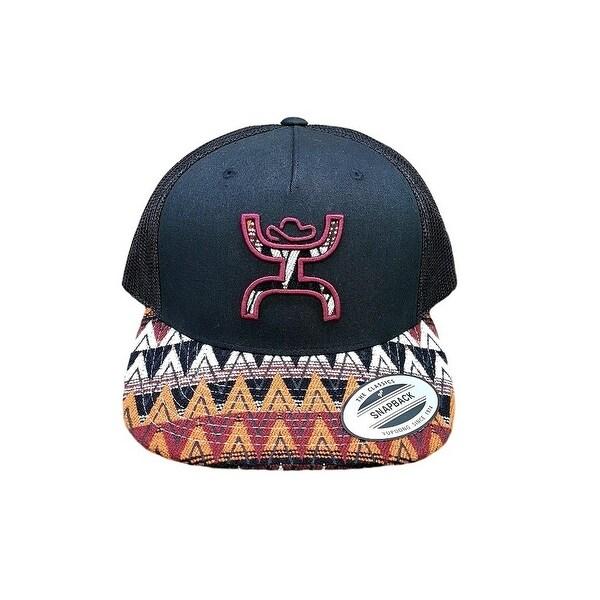 brand new b5557 861df ... usa hooey hat mens truck cap pyramid print bill one size black 0f6c0  0ca3a