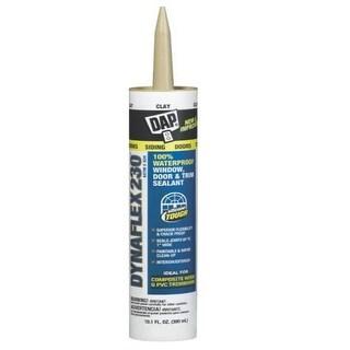 DAP 18416 Dynaflex 230 Elastomeric Sealant, Clay, 10.1 Oz