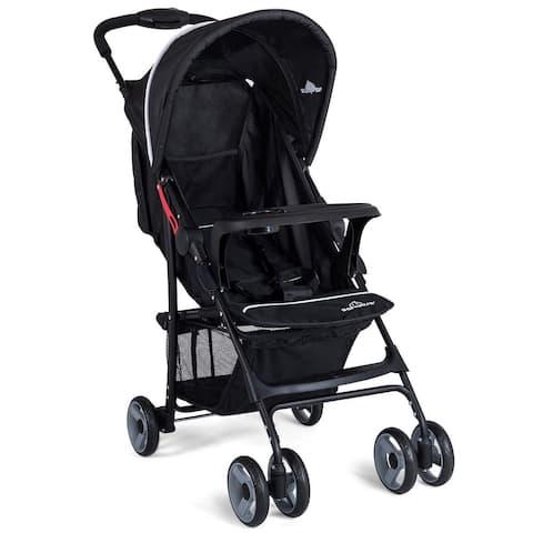 5-Point Safety System Foldable Lightweight Baby Stroller-Black