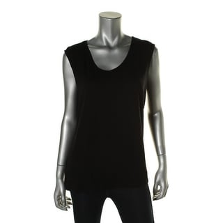 Eileen Fisher Womens Scoop Neck Sleeveless Casual Top - L