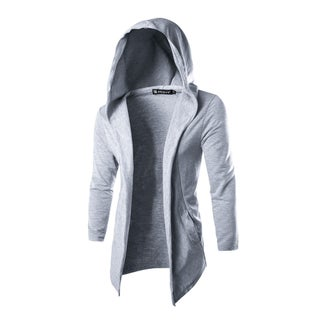 Men Long Sleeves Front Opening Casual Hooded Cardigan (More options available)
