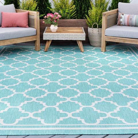 Alise Rugs Exo Transitional Geometric Indoor Outdoor Area Rug