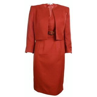 Kasper Women's Business Suit Dress Set - Dark Rust