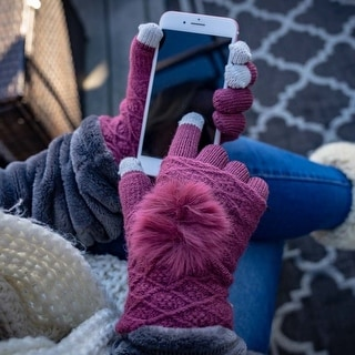 Link to Women's Pom Touch-Screen Knit Gloves Similar Items in Gloves