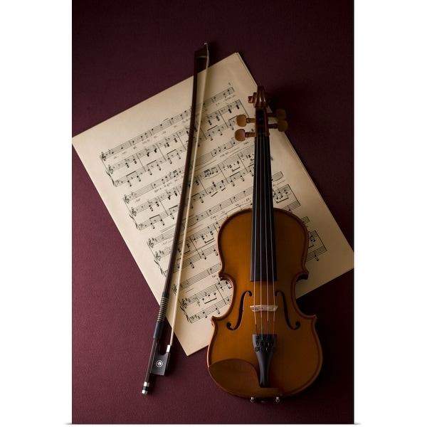 """""""Violin with sheet music"""" Poster Print"""