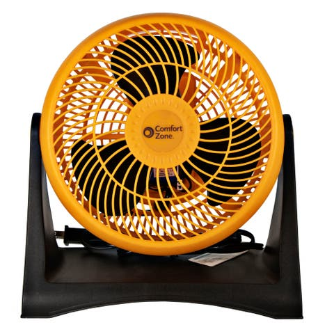 Comfort Zone 8-Inch Turbo High Velocity Fan, Orange