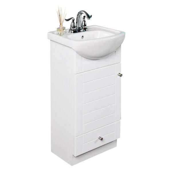 Fine Fixtures Petite 18 Inch Wood White Bathroom Vanity Overstock 5989865