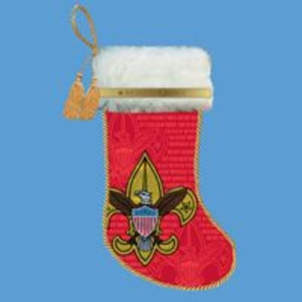 """19"""" Red Boy Scout Logo Christmas Stocking"""