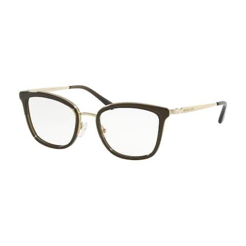 Michael Kors MK3032 3339 51 Transparent Olive Woman Square Eyeglasses