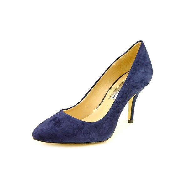INC International Concepts Women Size 7 Pointed Toe Suede Blue Heels