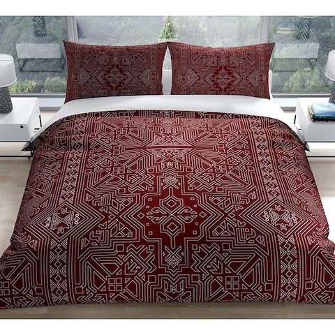 SULTANATE BURGUNDY Duvet Cover By Kavka Designs