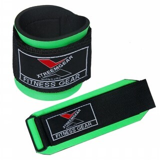 Weight Lifting Wrist WrapsTraining Straps Fastener Locked with Hook Green W1-G