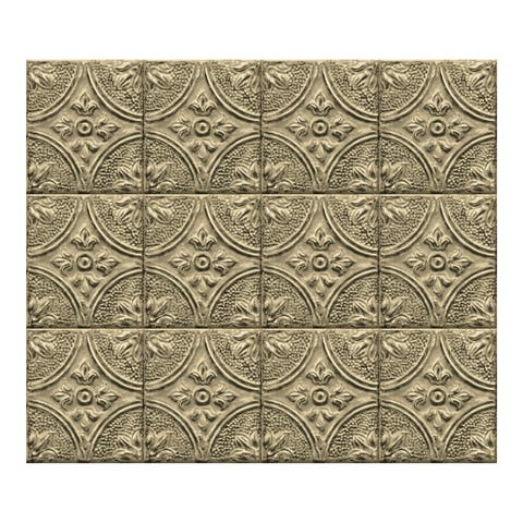 Restored Tile Brass Peel & Stick Backsplash Tiles - 72in x 18in x 0.025in