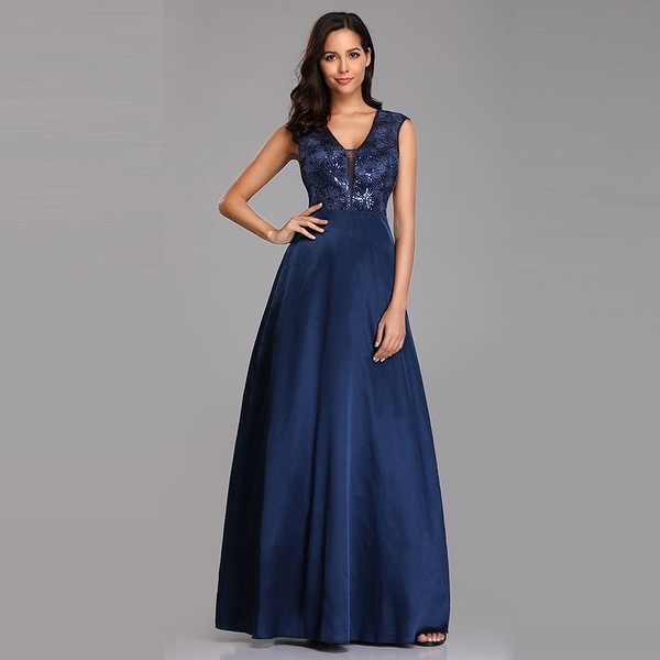 Ever-Pretty Womens Sequin Long Formal Evening Party Prom Bridesmaid Dress for Women 07731
