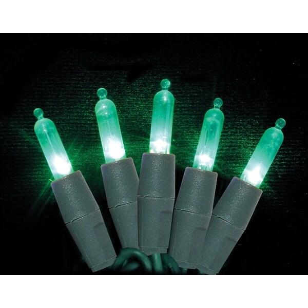 Celebrations 7001088S-04AC Mini Green LED Light String, 25.5'