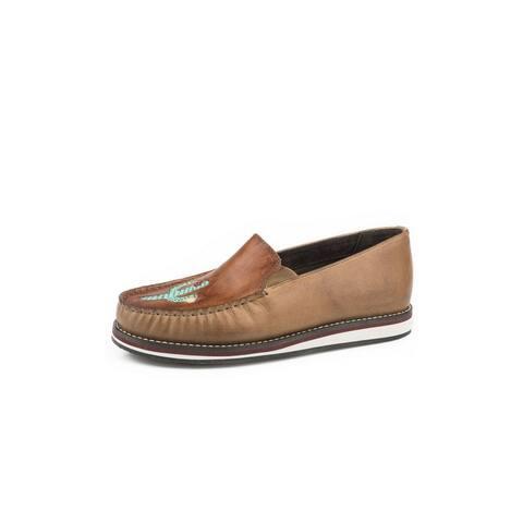 Roper Casual Shoes Womens Lone Cactus Slip On Tan