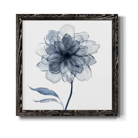 Indigo Bloom IV-Premium Framed Canvas - Ready to Hang