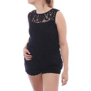 Ella Moss Jaime Lace Romper Women Regular Blouse