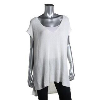 Free People Womens Textured Sleeveless Tunic Sweater - XS
