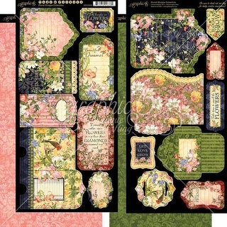 """Tags & Pockets - Floral Shoppe Cardstock Die-Cuts 6""""X12"""" Sheets 2/Pkg"""