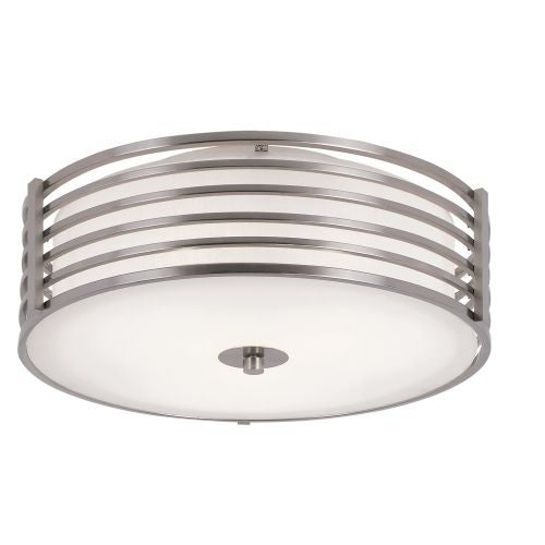 Trans Globe Lighting 10041 3 Light Flushmount Ceiling Fixture from the Pendants and Flushmounts Collection - Brushed nickel