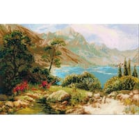 "Mountain Lake Counted Cross Stitch Kit-23.75""X15.75"" 10 Count"