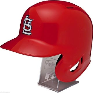St Louis Cardinals Rawlings Full Size Batting Helmet Left Ear Flap with Display stand