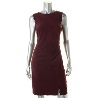 Lauren Ralph Lauren Womens Wear to Work Dress Faux Suede Sleeveless
