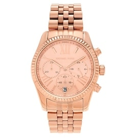 Michael Kors Women's MK5569 'Lexington' Rose Dial Roman Chronograph Bracelet Watch