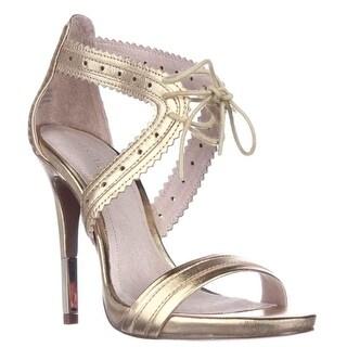 Pour La Victoire Shanna Front Tie Sandals, Gold