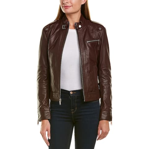 Marc New York Rego Racer Glove Lamb Leather Jacket