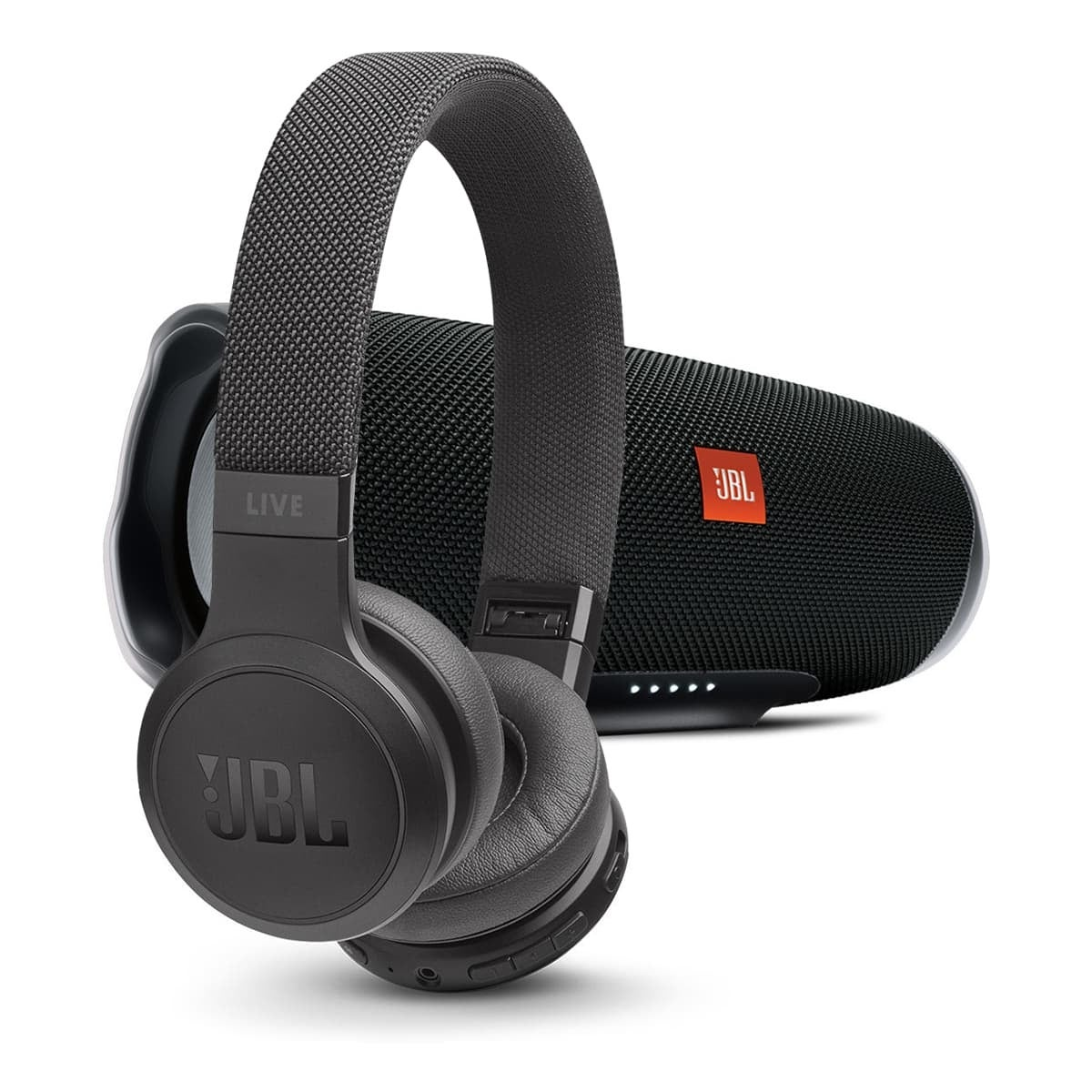 Shop Jbl Charge 4 Portable Bluetooth Speaker With Live 400bt Wireless On Ear Headphones With Voice Control Black Black Overstock 30511935