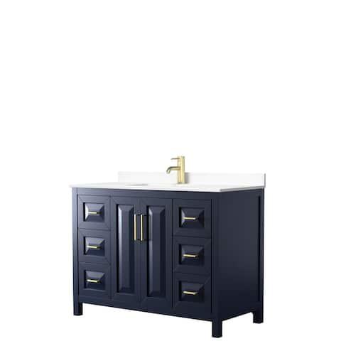 Daria 48 Inch Single Vanity, Cultured Marble Top