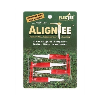 FlexTee AlignTee Flexible Golf Tees (4 Pack)