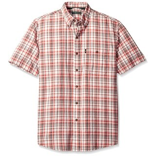 G.H. Bass & Co. Red Mens Size Small S Button Down Plaid Shirt