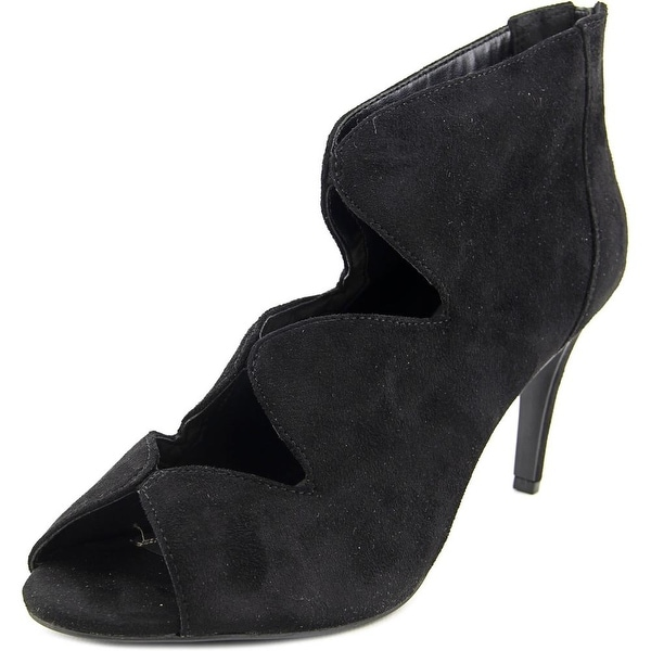 Impo Tyra Women Peep-Toe Synthetic Black Bootie