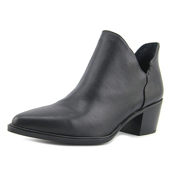 Betsey Johnson Molly Women Peep-Toe Patent Leather Black Ankle Boot