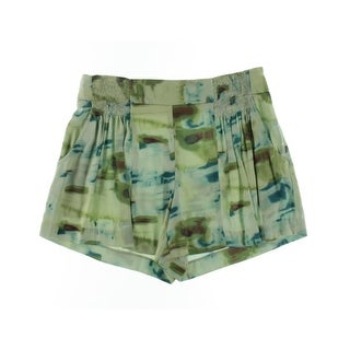 Catherine Malandrino Womens Silk Printed Dress Shorts - 4