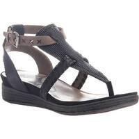 OTBT Women's Celestial Thong Sandal Black Leather