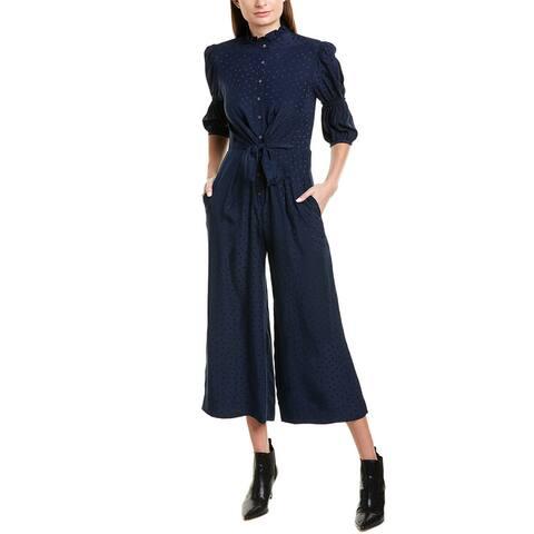 Rebecca Taylor Jacquard Silk Jumpsuit