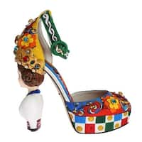 Dolce & Gabbana Dolce & Gabbana Multicolor Carretto Brocade Platform Shoes