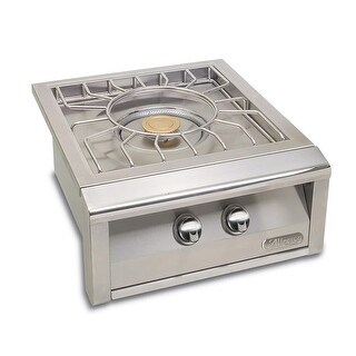 """Alfresco AXEVP-NG 65000 BTU 24"""" Wide Built-In Natural Gas Power Burner from the Versa Series - STAINLESS STEEL - N/A"""