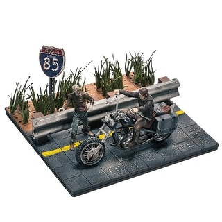 The Walking Dead Building Sets- Daryl With Chopper - Multi