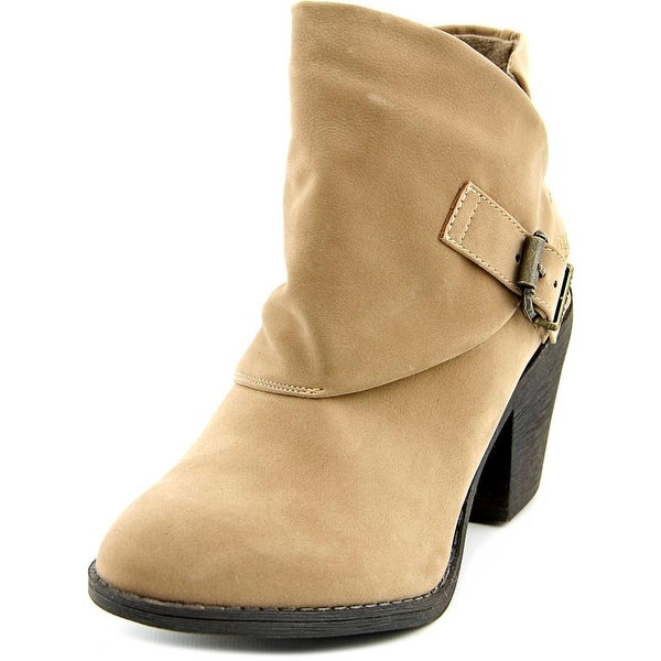 Blowfish Suba Women Round Toe Synthetic Tan Ankle Boot