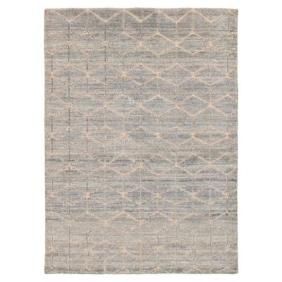 ECARPETGALLERY Hand-knotted Loreto Grey Wool Rug - 5'7 x 7'7