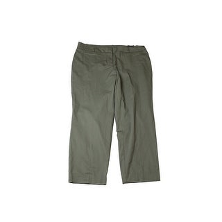 Style & Co Plus Size Olive Sprig Slim-Ankle Pants 24W